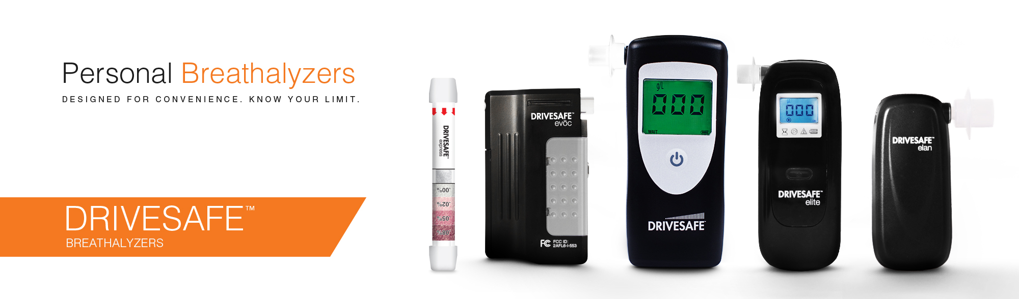 DRIVESAFE family of breathalyzers